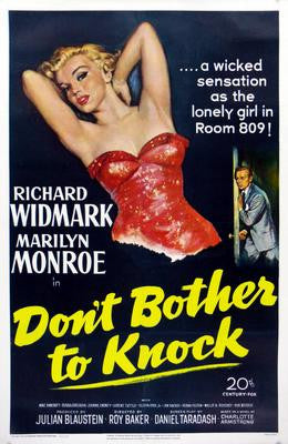 Don't Bother To Knock Movie Poster 24x36 - Fame Collectibles