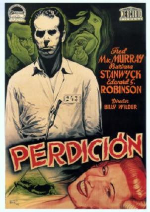 Double Indemnity Perdicion Movie Poster 24in x 36in - Fame Collectibles