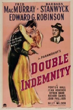 Double Indemnity Movie Poster 24in x 36in - Fame Collectibles