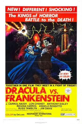 Dracula Vs Frankenstein Movie Poster 24x36 - Fame Collectibles