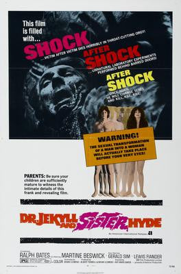 Dr. Jekyll And Sister Hyde Movie Poster 24x36 - Fame Collectibles