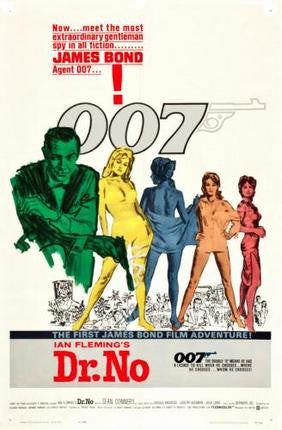 Dr No Movie Poster James Bond 24x36 - Fame Collectibles