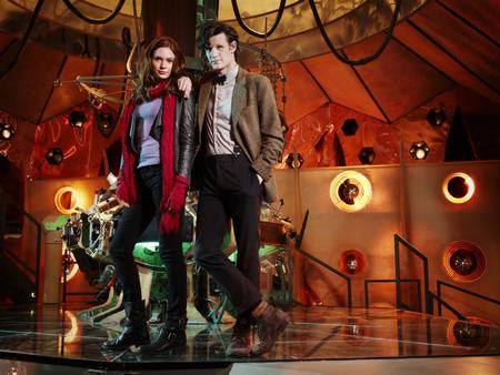 Matt Smith Karen Gillan Dr. Who Poster Tardis #1 24x36 - Fame Collectibles