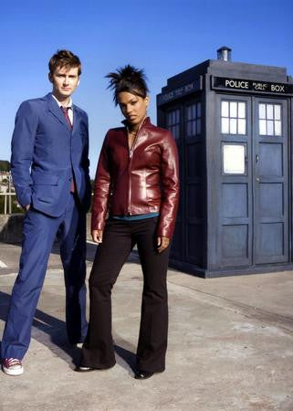 David Tennant Freema Agyeman Poster tardis 24x36 - Fame Collectibles
