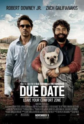 Due Date Movie Poster Downey Galifanakis 24x36 - Fame Collectibles