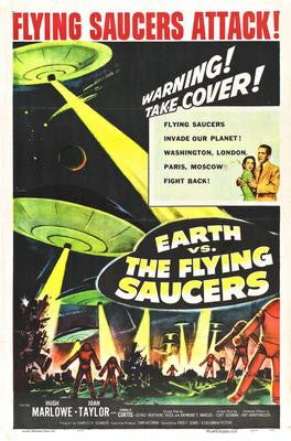 Earth Vs Flying Saucers Movie Poster 24x36 - Fame Collectibles