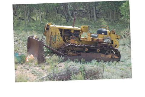 Junkyard Cars Jigsaw Puzzle Choose a Size Bulldozer rusty Car