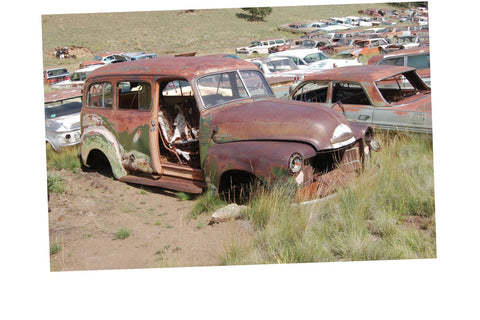 Junkyard Cars Jigsaw Puzzle Choose a Size Vintage Chevy Suburban