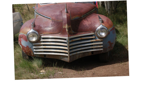 Junkyard Cars Photo Art  T-Shirt Chrysler rusty Car