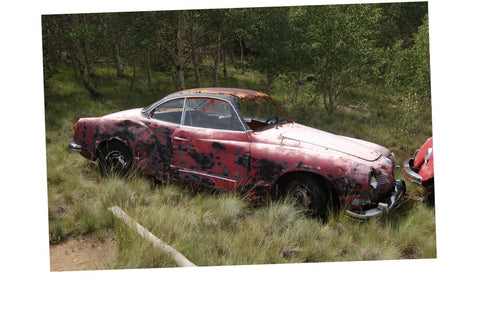 Junkyard Cars Photo Art  T-Shirt Karmann Ghia rusty Car