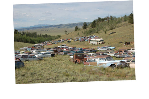 Junkyard Cars Jigsaw Puzzle Choose a Size Rocky Mountains rusty Car