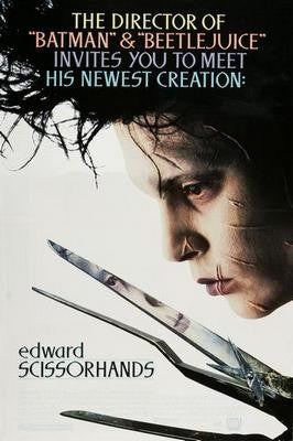 Edward Scissorhands Movie Poster 24x36 - Fame Collectibles