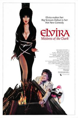 Elvira Mistress Of The Dark Movie Poster 24x36 - Fame Collectibles