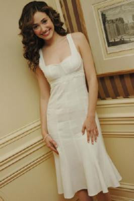 Emmy Rossum Poster White Dress 24inx36in - Fame Collectibles