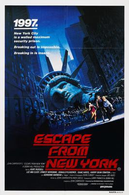 Escape From New York Movie Poster 24x36 - Fame Collectibles