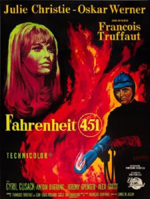 Fahrenheit 451 Movie Poster 24in x 36in - Fame Collectibles