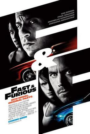 Fast And The Furious Movie Poster 24x36 - Fame Collectibles