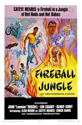 Fireball Jungle Movie Poster 24x36 - Fame Collectibles
