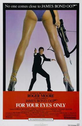 For Your Eyes Only Movie Poster James Bond 24x36 - Fame Collectibles