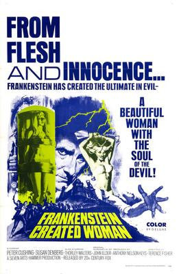 Frankenstein Created Woman Movie Poster 24x36 - Fame Collectibles