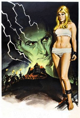 Frankenstein Created Woman Movie Poster 24x36 art 24x36 - Fame Collectibles