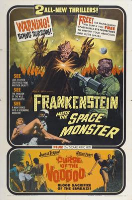 Frankenstein Meets Spacemonster Movie Poster 24x36 - Fame Collectibles