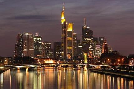 Frankfurt Skyline Poster Germany Photography 24x36 - Fame Collectibles