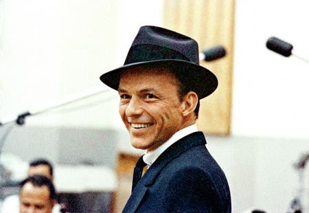 Frank Sinatra Poster Smiling Studio 24x36 - Fame Collectibles