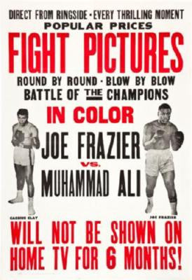 Joe Frazier Muhammad Ali Fight Poster 24in x 36in - Fame Collectibles