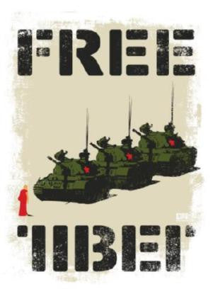 Free Tibet Poster 24in x 36in - Fame Collectibles