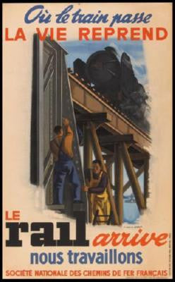 French National Railways 1944 Poster 24inx36in - Fame Collectibles
