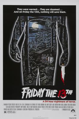 Friday The 13Th Movie Poster 24x36 - Fame Collectibles