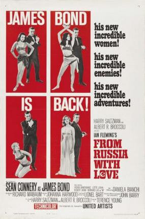 From Russia With Love Movie Poster 24x36 - Fame Collectibles