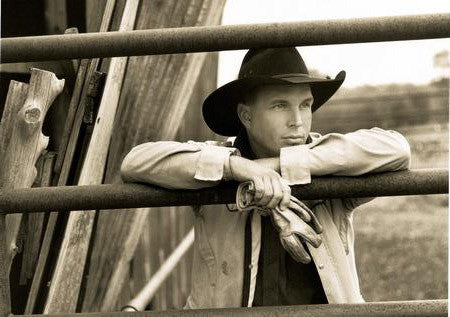 Garth Brooks Poster Sepia Cowboy 24x36 - Fame Collectibles
