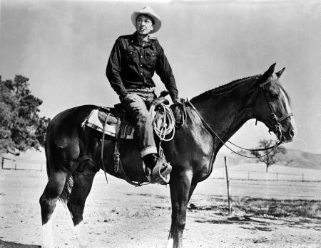 Gary Cooper Poster Bw Photo On Horse 24x36 - Fame Collectibles