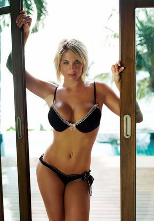 Gemma Atkinson Poster black bikini 24x36 - Fame Collectibles