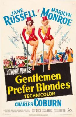 Gentlemen Prefer Blondes Movie Poster 24in x 36in - Fame Collectibles