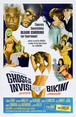Ghost In The Invisible Bikini Movie Poster 24x36 - Fame Collectibles