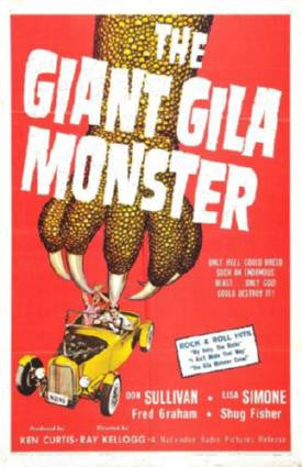 Giant Gila Monster The Movie Poster 24in x 36in - Fame Collectibles