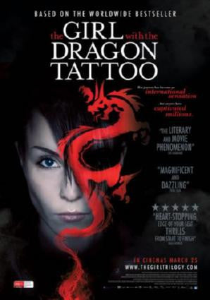 Girl With The Dragon Tattoo Movie Poster 24in x 36in - Fame Collectibles