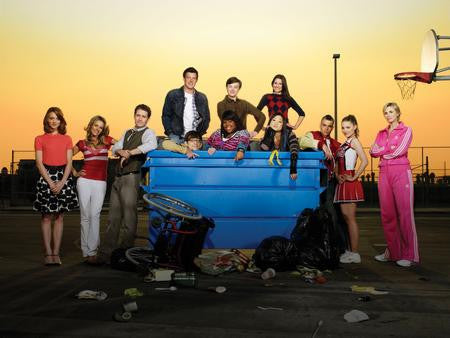 Glee Cast Poster Schoolyard 24x36 - Fame Collectibles