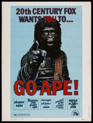 Go Ape Poster 24inx36in - Fame Collectibles