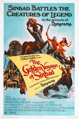 Golden Voyage Of Sinbad Movie Poster 24x36 - Fame Collectibles