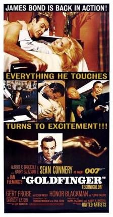 Goldfinger Movie Poster James Bond 24x36 - Fame Collectibles