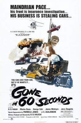 Gone In 60 Seconds Movie Poster 24x36 - Fame Collectibles