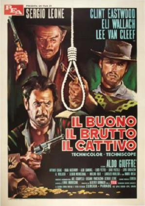 Good The Bad The Ugly Movie Poster 24in x 36in - Fame Collectibles