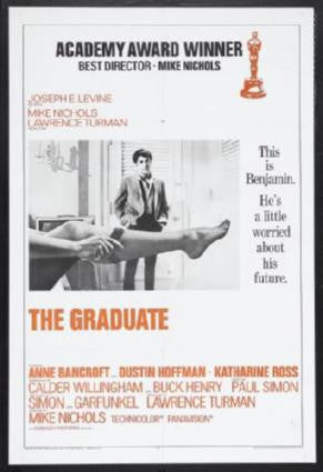Graduate The Movie Poster 24in x 36in - Fame Collectibles