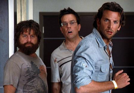 Hangover Cast Poster Cooper Helms Galafanakis 24x36 - Fame Collectibles