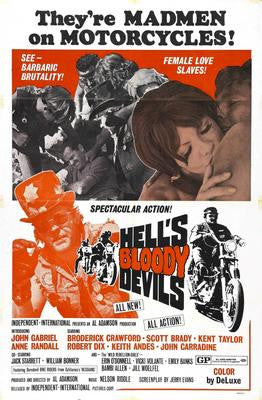 Hells Bloody Devils Movie Poster 24x36 - Fame Collectibles
