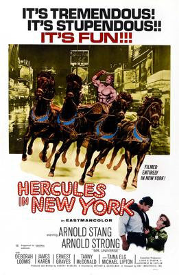 Hercules In New York Movie Poster 24x36 - Fame Collectibles